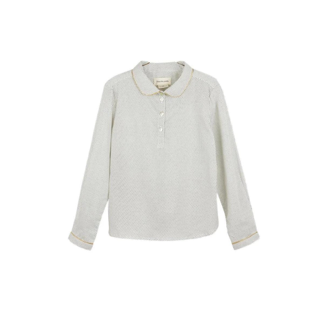 Arsene Arsene Mini Dot Collar Blouse  JellyBeanz Kids