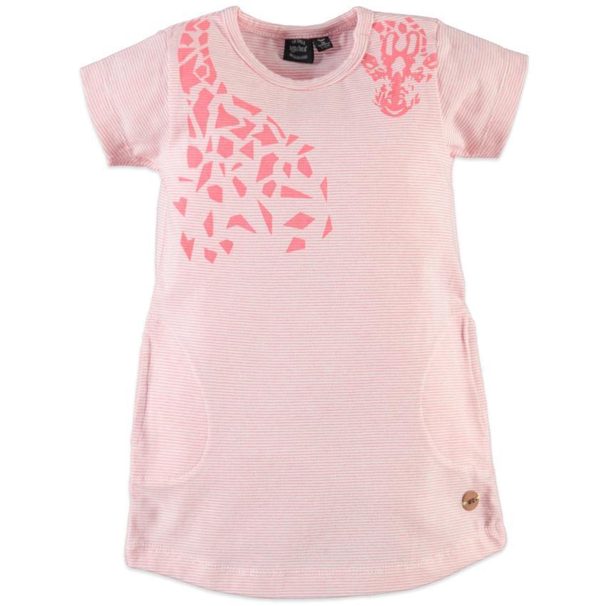 Babyface Coral Giraffe Print Dress  JellyBeanz Kids
