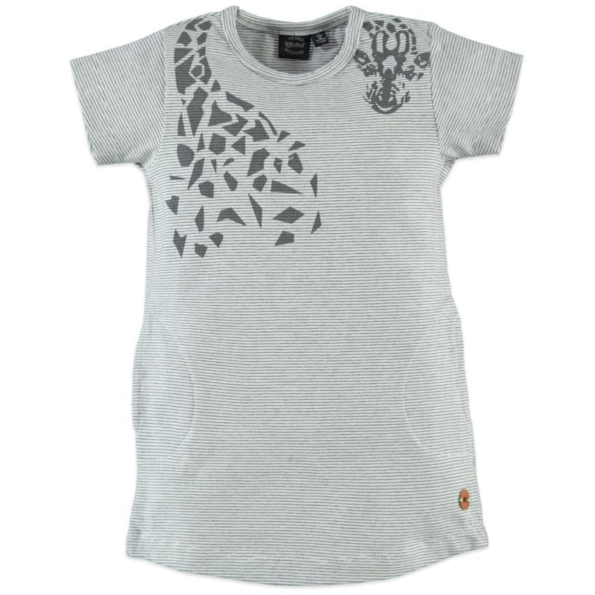Babyface Gray Giraffe Print Dress  JellyBeanz Kids