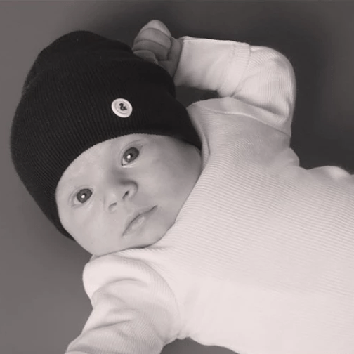 Blk&White NY Accessories Jellybeanzkids Blk&White NY Signature Infant Beanie NB