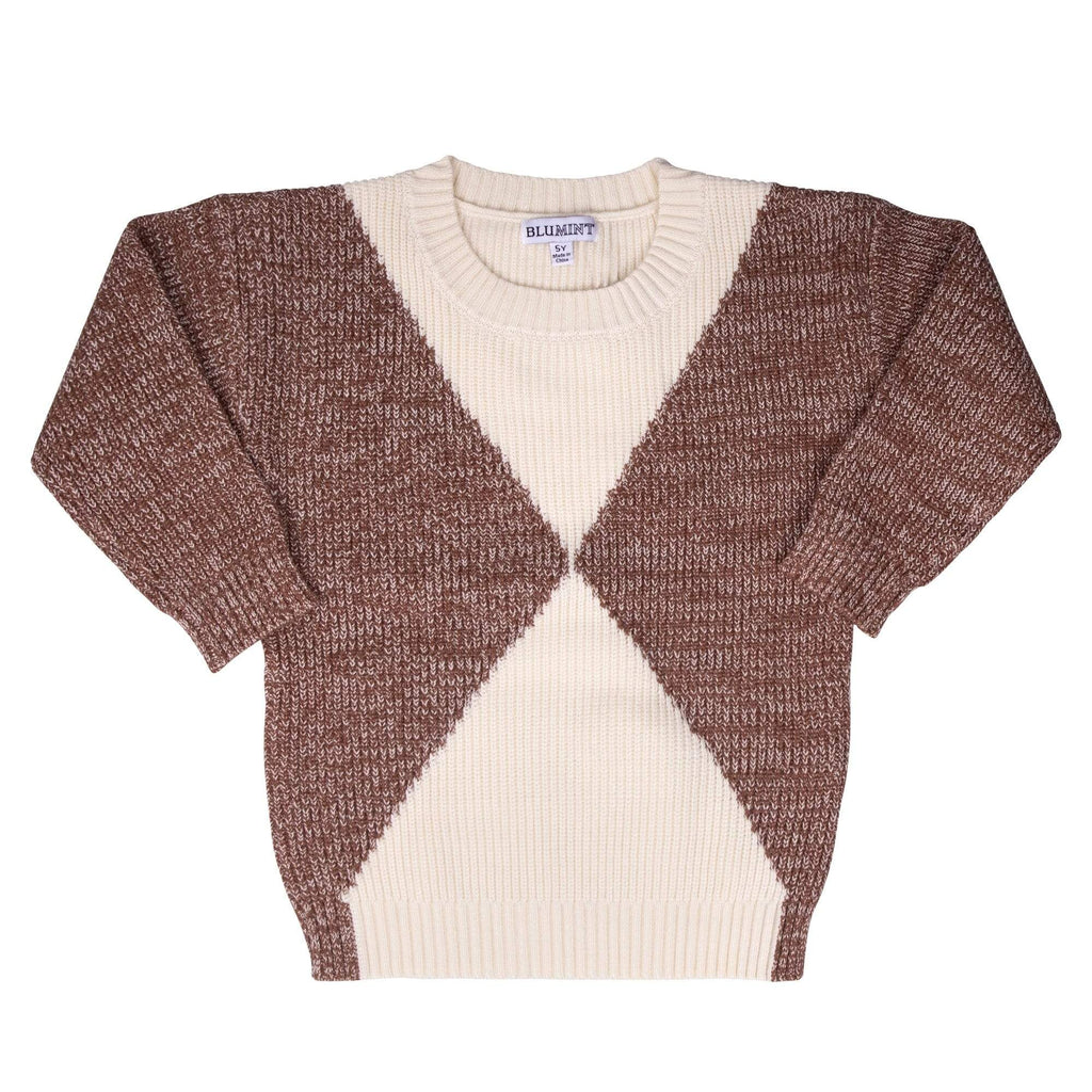 Blumint Blumint Cognac Colorblock Sweater  JellyBeanz Kids