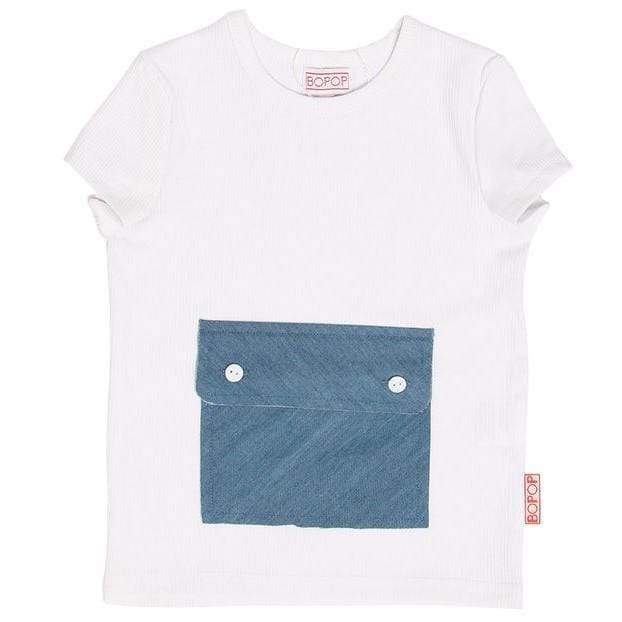 Bopop T-shirt Jellybeanzkids Bopop Denim Pocket Tee