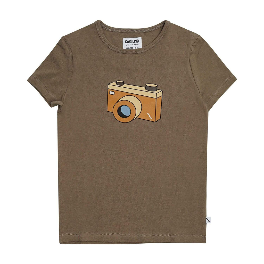 Carlijnq T-shirt Jellybeanzkids Carlijnq Brown Photo Camera T-shirt