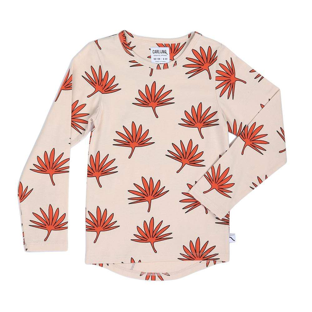Carlijnq Carlijnq Long Sleeve Palm Leaf Tee  JellyBeanz Kids