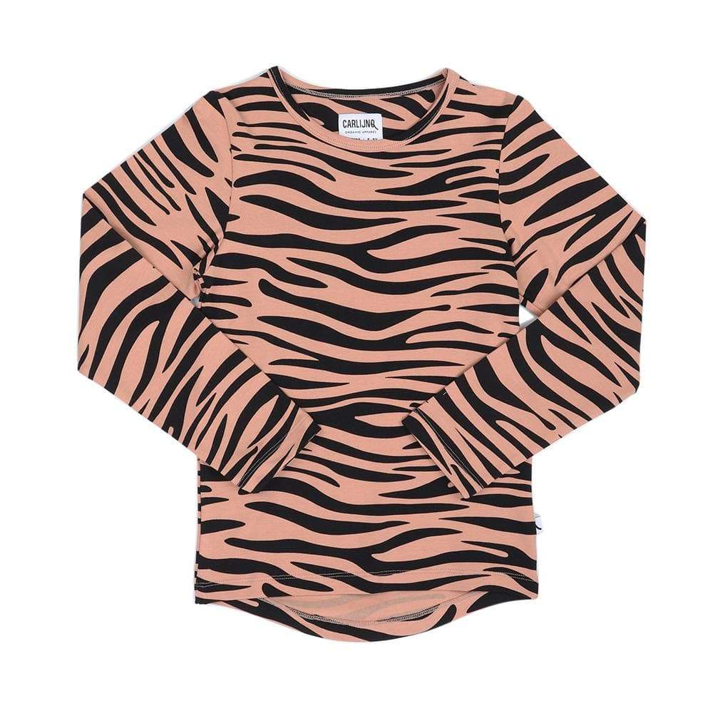 Carlijnq Carlijnq Long Sleeve Tiger Tee  JellyBeanz Kids