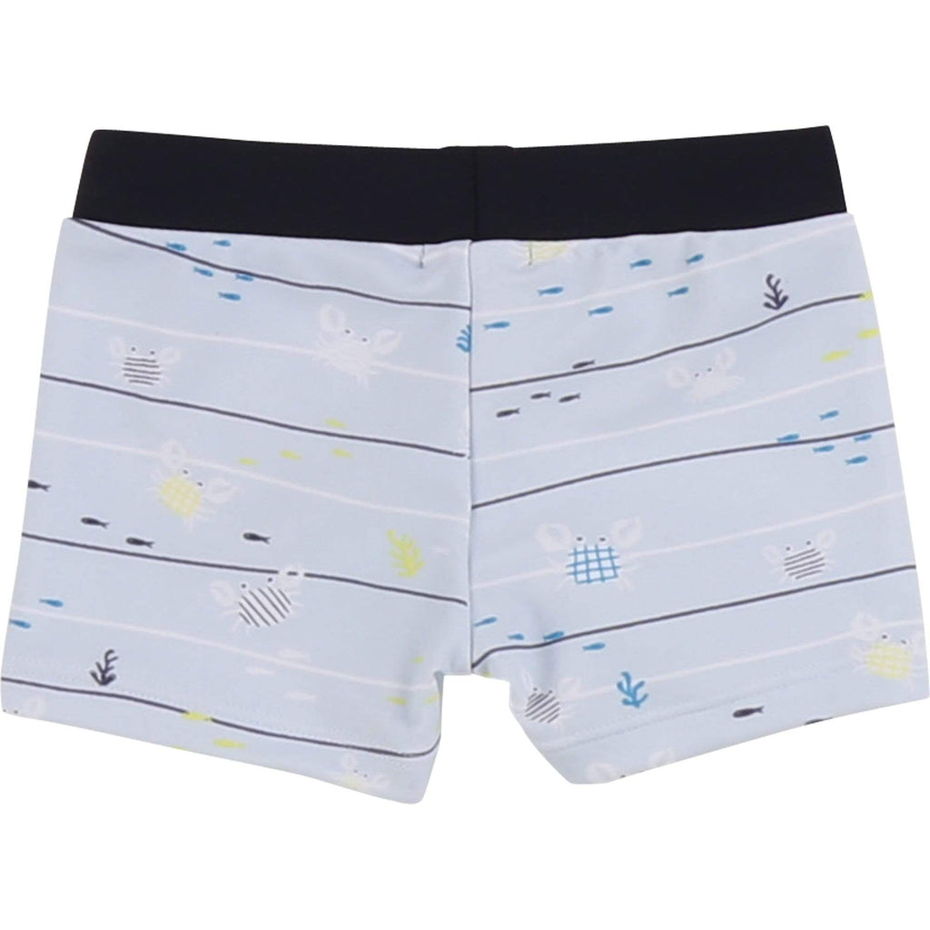 Carrement Beau Carremet Beau Striped Crab Swim Trunks  JellyBeanz Kids