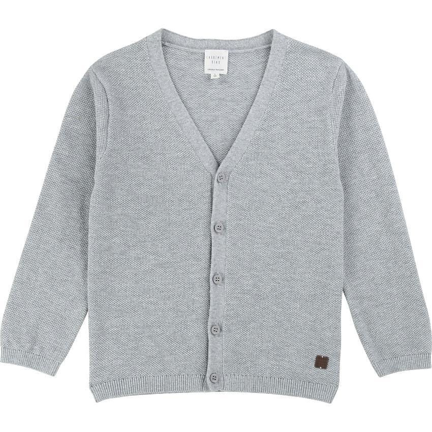 Carrement Beau Carrement Beau Gray V-neck Cardigan  JellyBeanz Kids