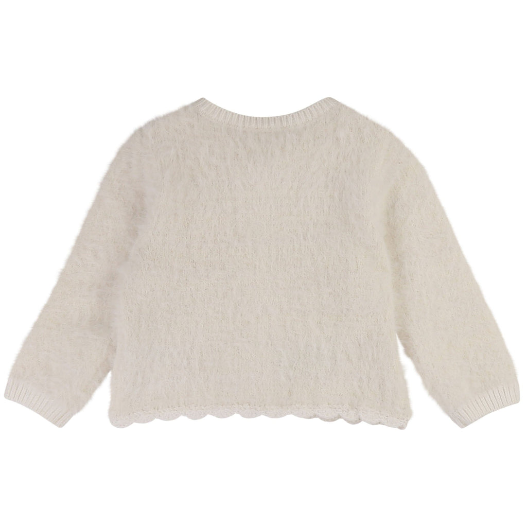 Carrement Beau Carrement Beau Knit Fuzzy Cardigan  JellyBeanz Kids