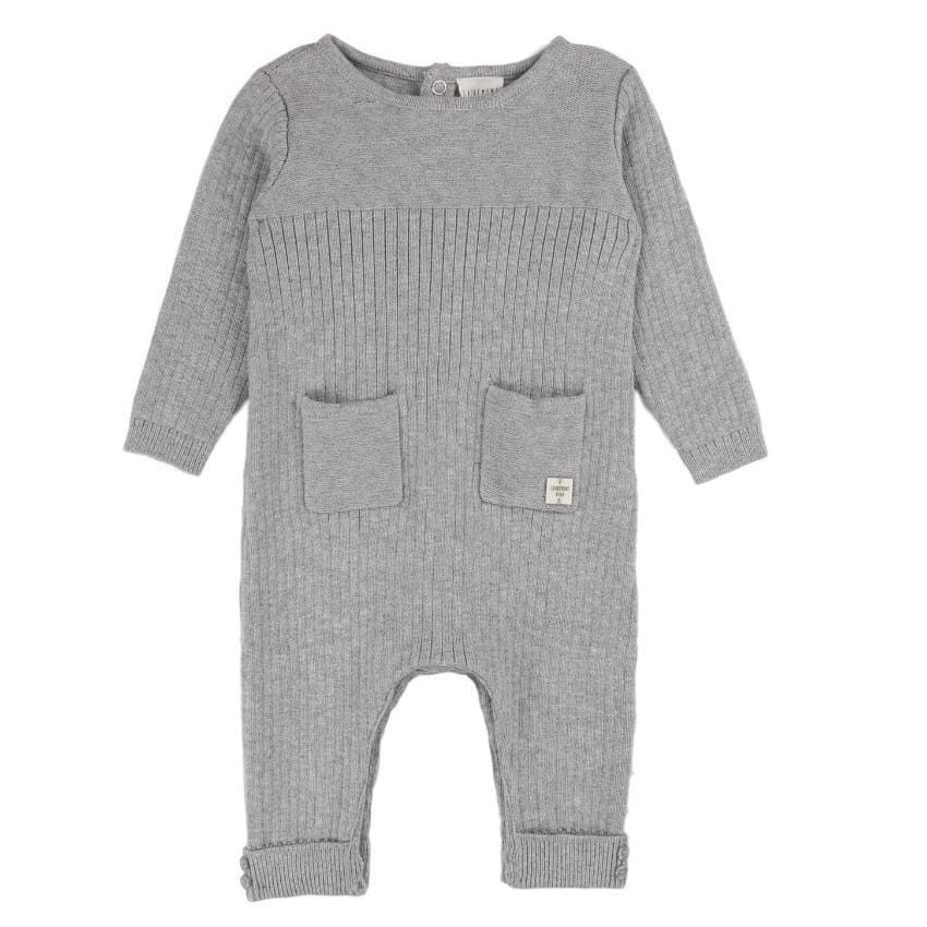 Carrement Beau Carrement Beau Knit Ribbed Romper  JellyBeanz Kids