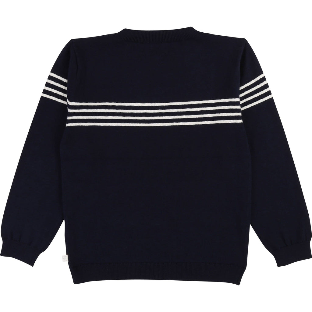 Carrement Beau Carrement Beau Navy Logo Sweater  JellyBeanz Kids