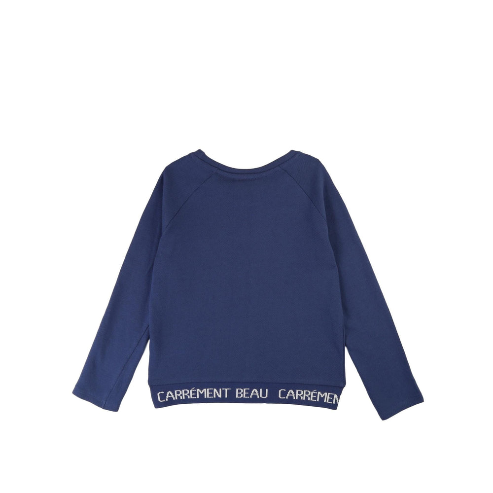 Carrement Beau Carrement Beau Logo Hem Sweatshirt  JellyBeanz Kids