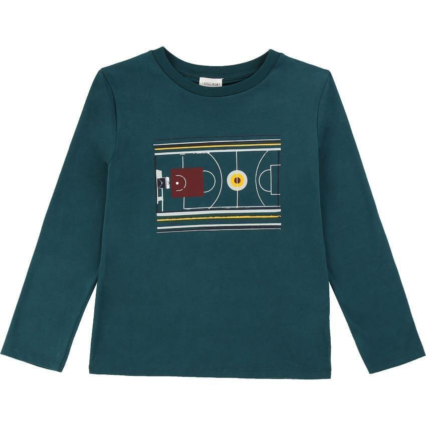Carrement Beau Carrement Beau Green Graphic Tee  JellyBeanz Kids