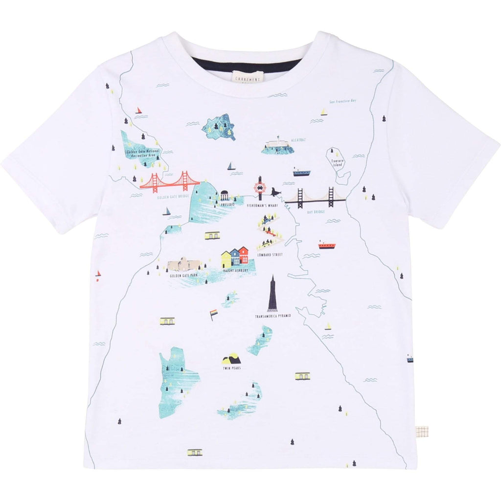 Carrement Beau Carrement Beau San Fran Map Tee  JellyBeanz Kids