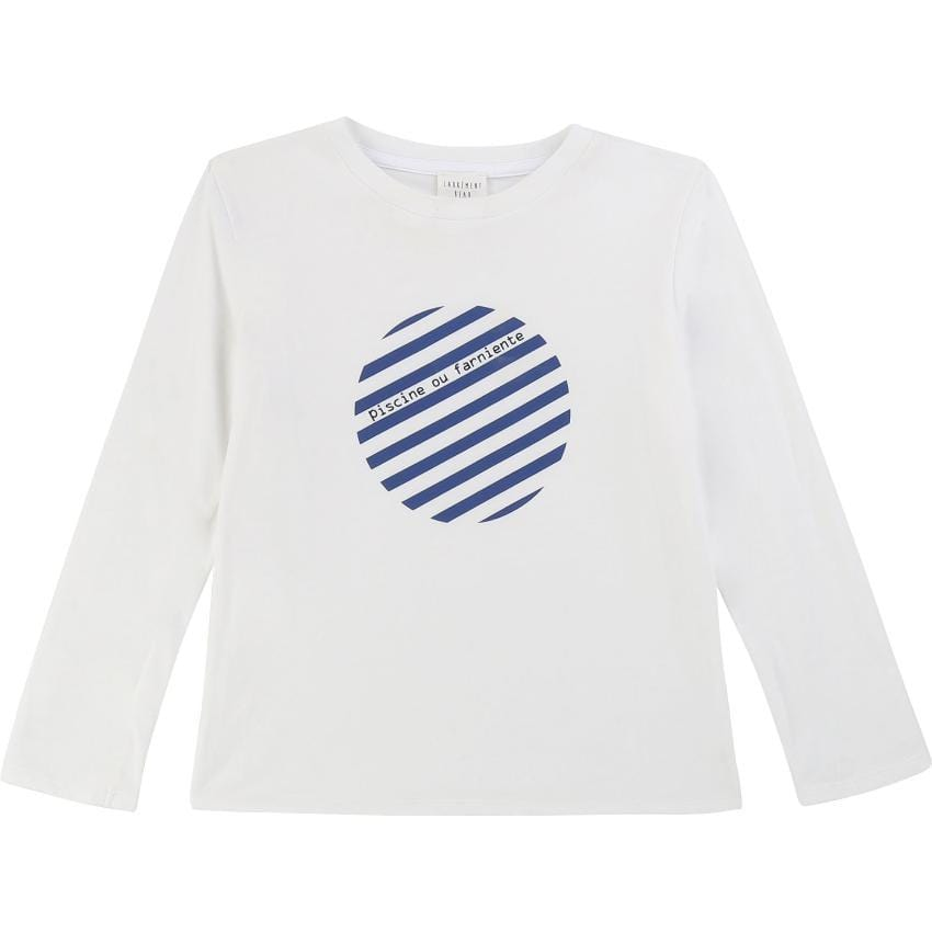 Carrement Beau Carrement Beau White Graphic Tee  JellyBeanz Kids