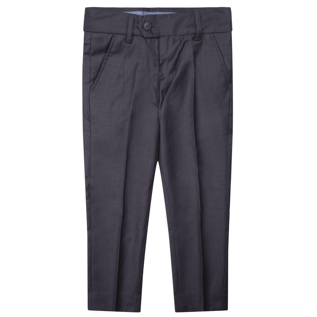 Charkole Pants Jellybeanzkids Charkole Grey Slim Suit Pants