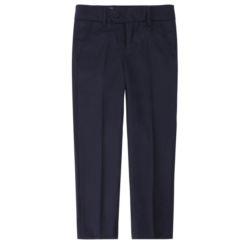 Charkole Pants Jellybeanzkids Charkole Navy Slim Suit Pants