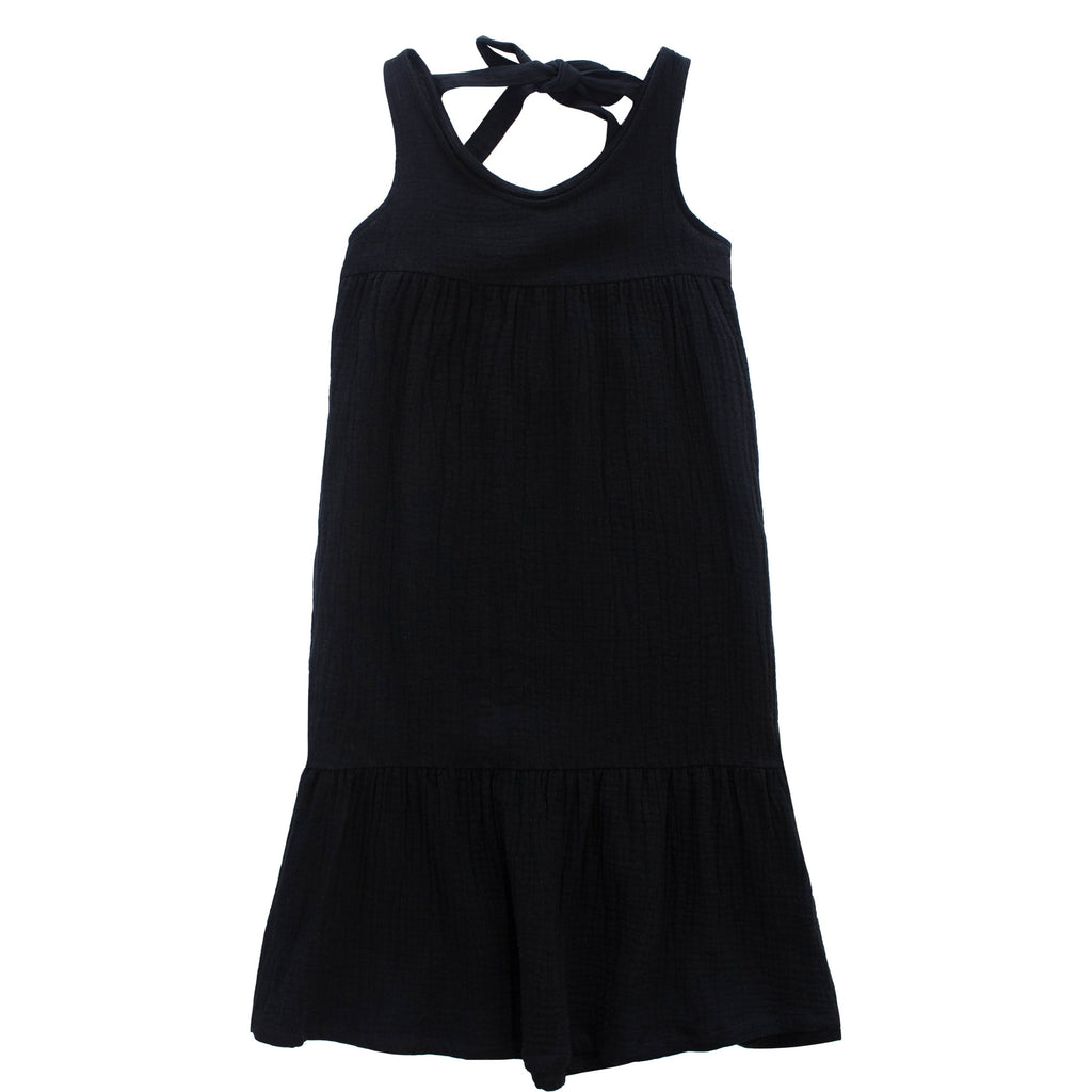 Crew Dress Jellybeanzkids Crew Black Muslin Maxi Dress