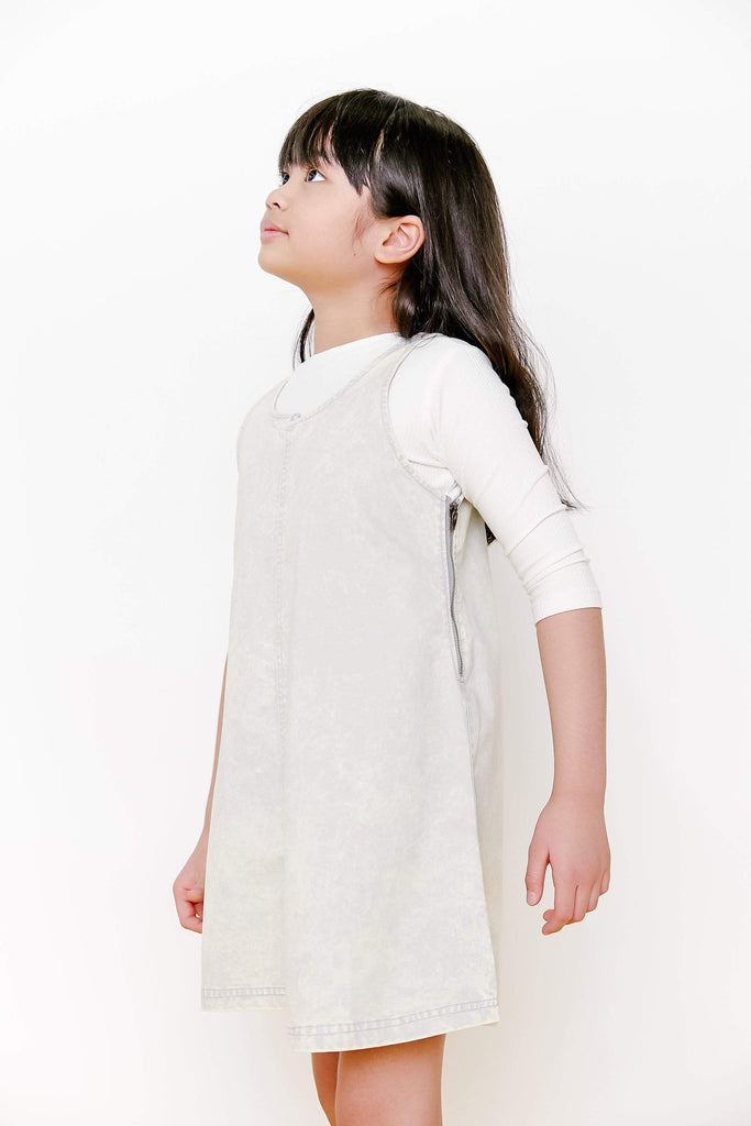 Crew Dress Jellybeanzkids Crew Blue Ombre Bleached Jumper