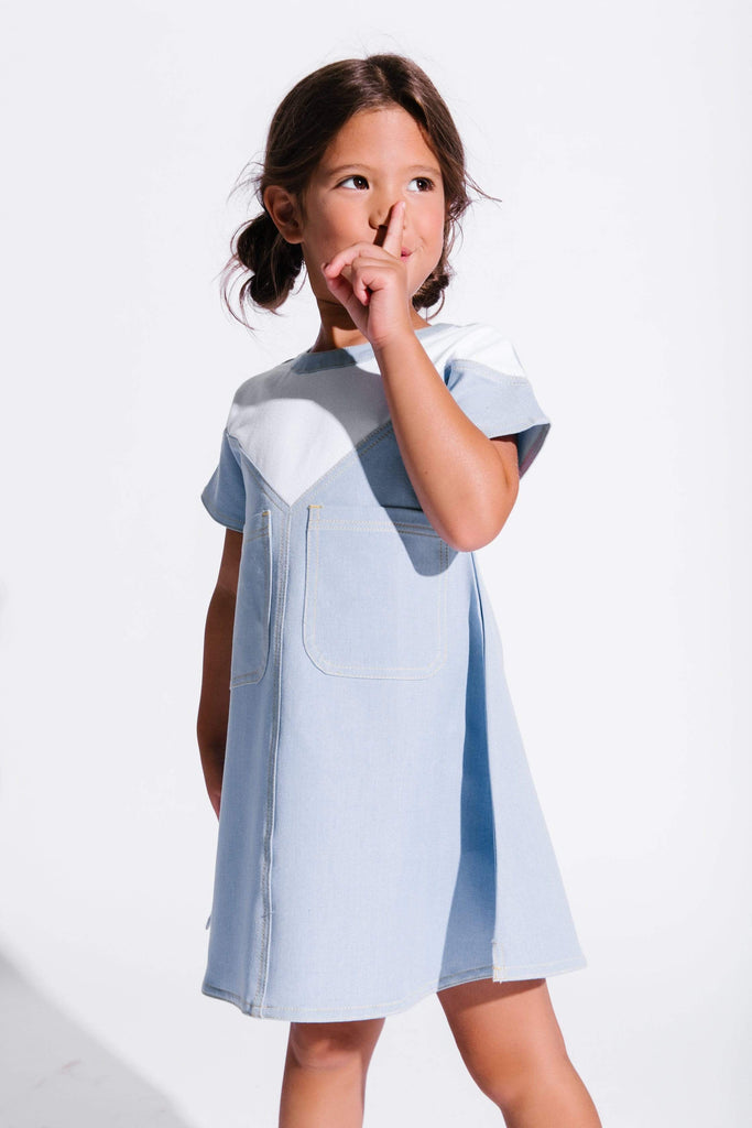 Crew Crew Denim Dress  JellyBeanz Kids