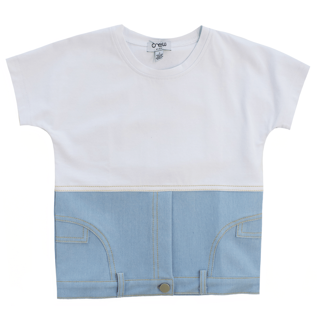Crew Crew Denim Tee  JellyBeanz Kids
