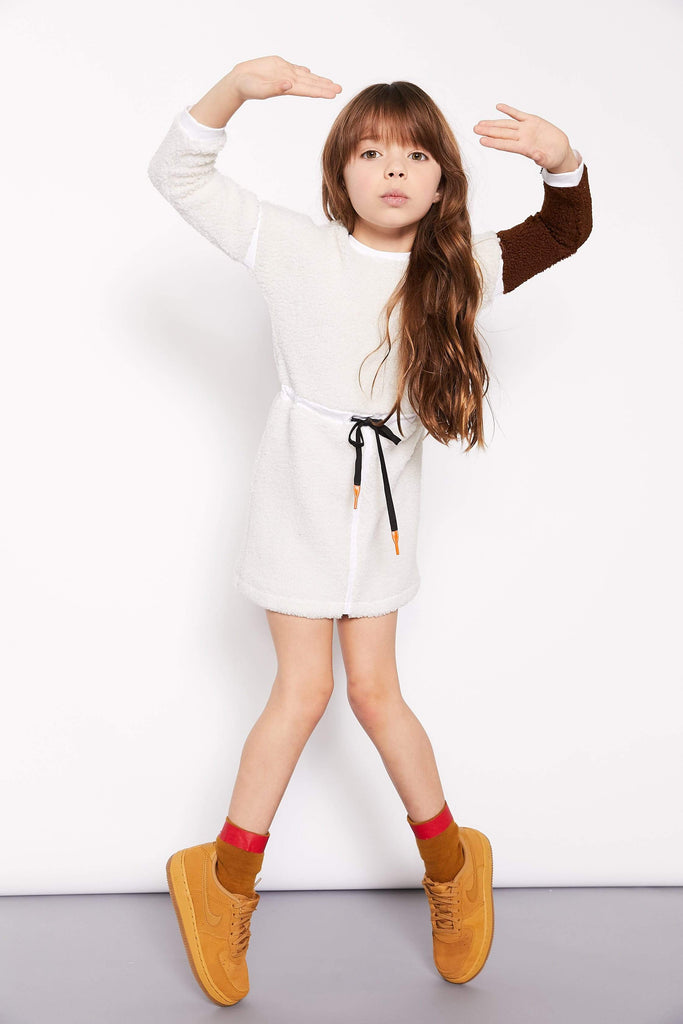 Crew Crew Sherpa Dress  JellyBeanz Kids