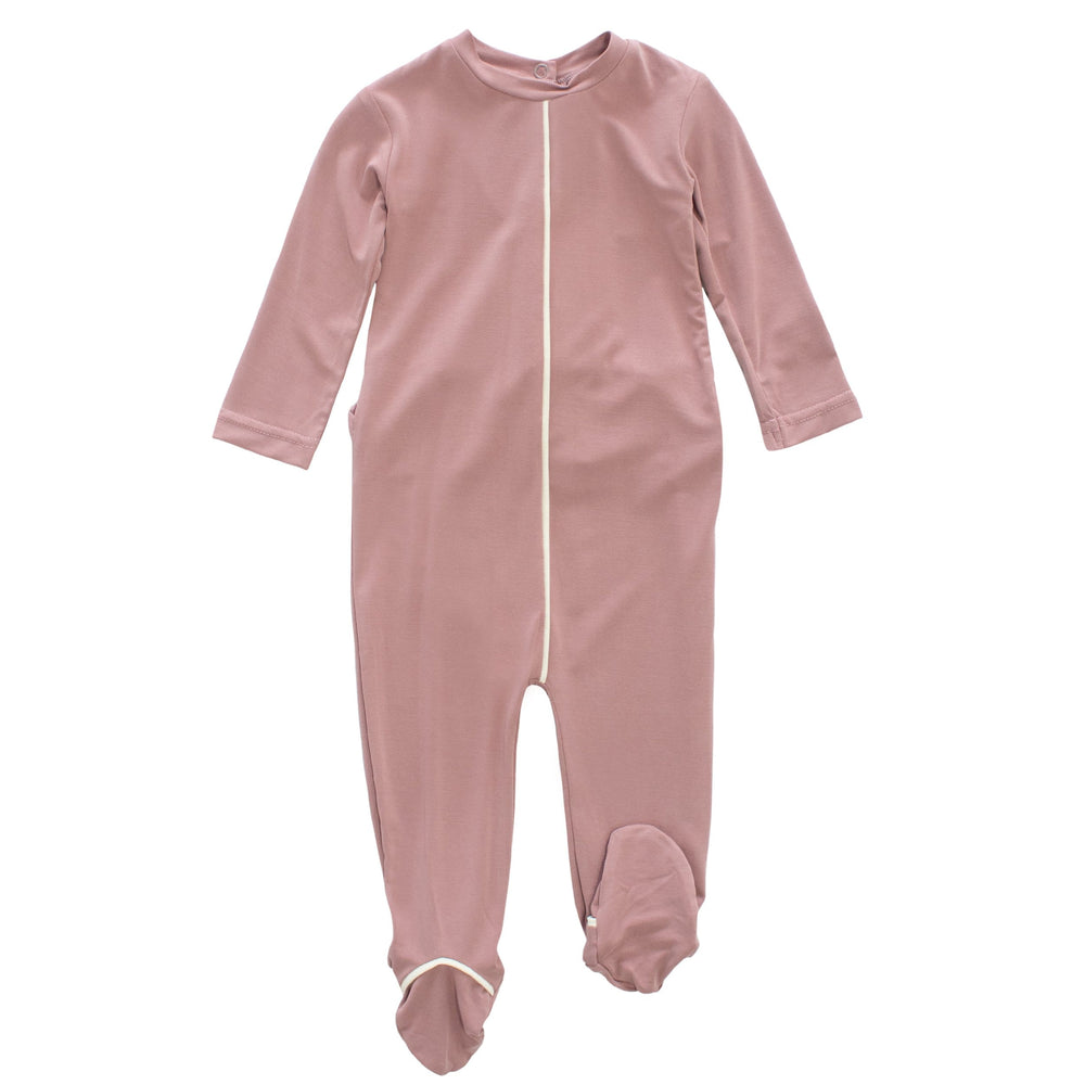Crew footie Jellybeanzkids Crew Blush Piped Footie