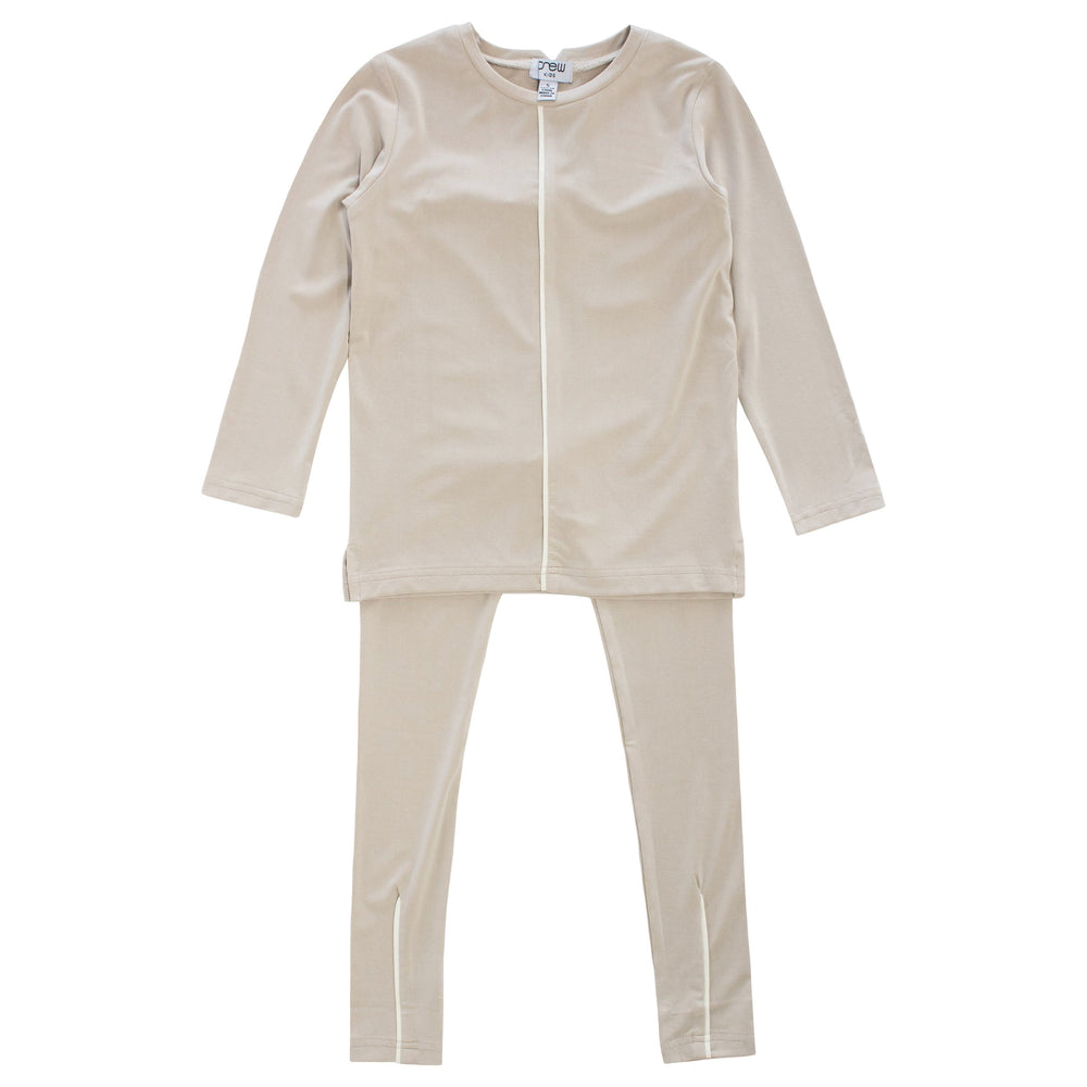 Crew Pajamas Jellybeanzkids Crew Stone Piped Lounge Set