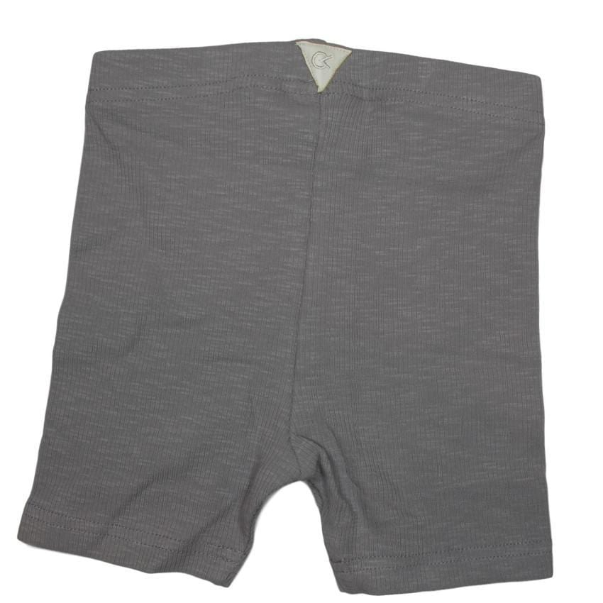 Crew Gray Ribbed Biker Short  JellyBeanz Kids