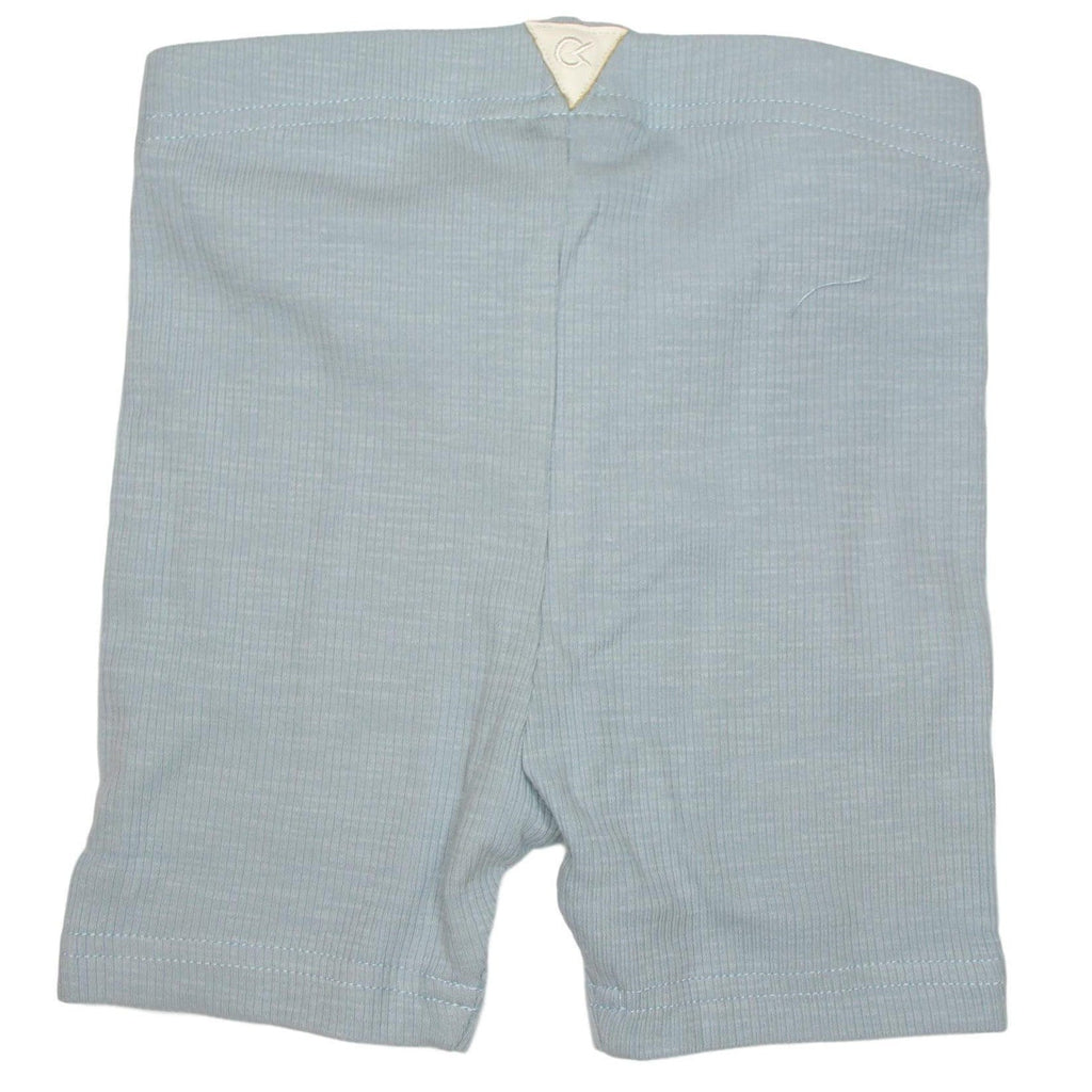 Crew Light Blue Ribbed Biker Short  JellyBeanz Kids