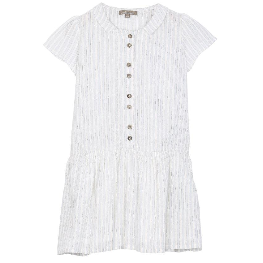 Emile et Ida Lurex Stripe Dress  JellyBeanz Kids