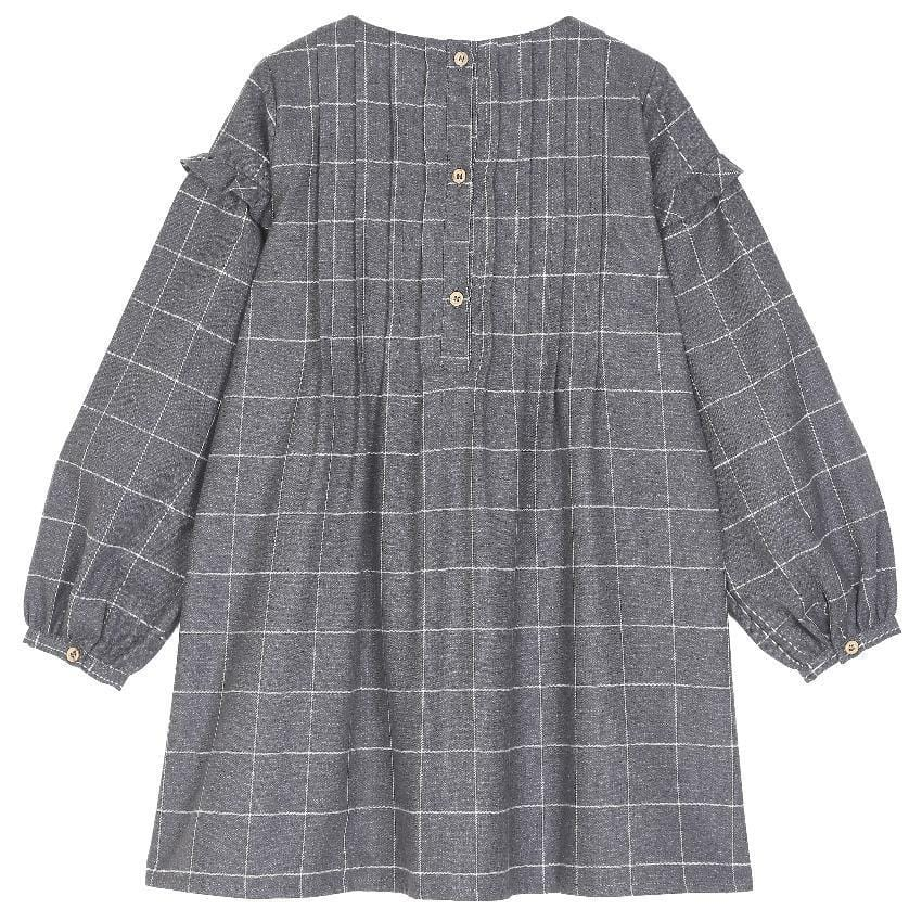 Emile et Ida Emile Et Ida Gray Grid Dress  JellyBeanz Kids