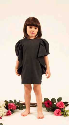 Fiorile Fiorile Blush Wing Sleeve Dress  JellyBeanz Kids