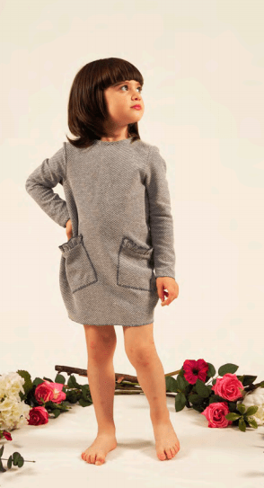 Fiorile Fiorile Tweed Dress  JellyBeanz Kids