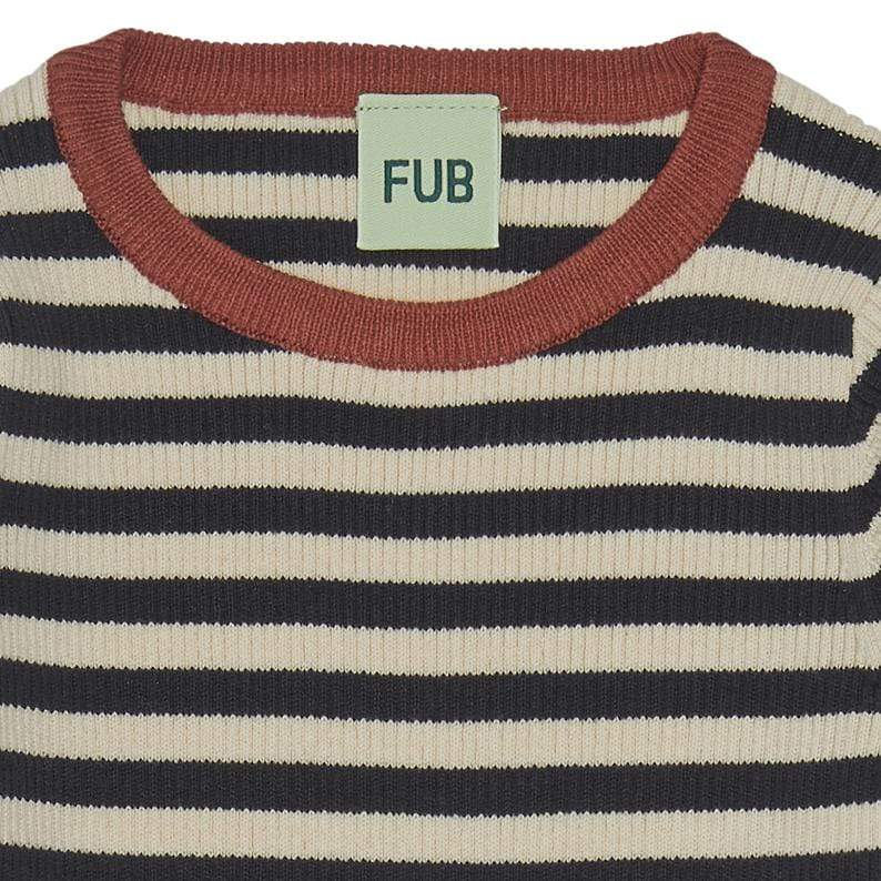 FUB Sweater Jellybeanzkids FUB Navy Striped Sweater