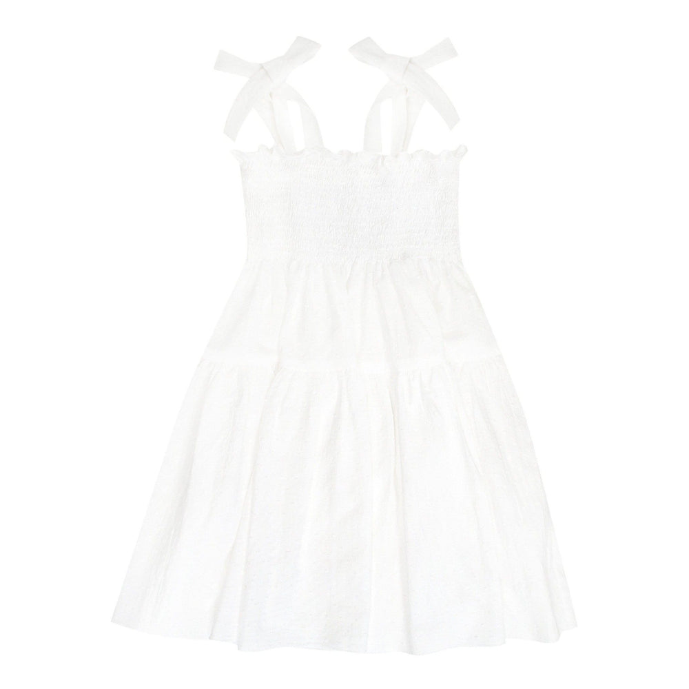 Hebe Dress Jellybeanzkids Hebe Dotted White Dress