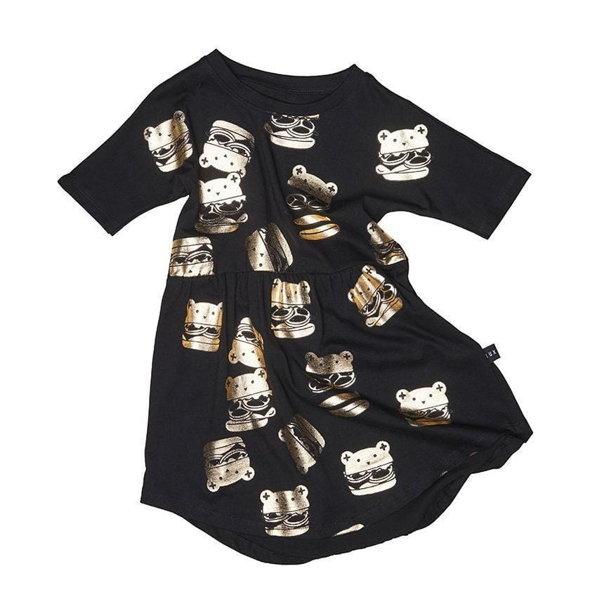 Huxbaby Huxburger Swirl Dress  JellyBeanz Kids