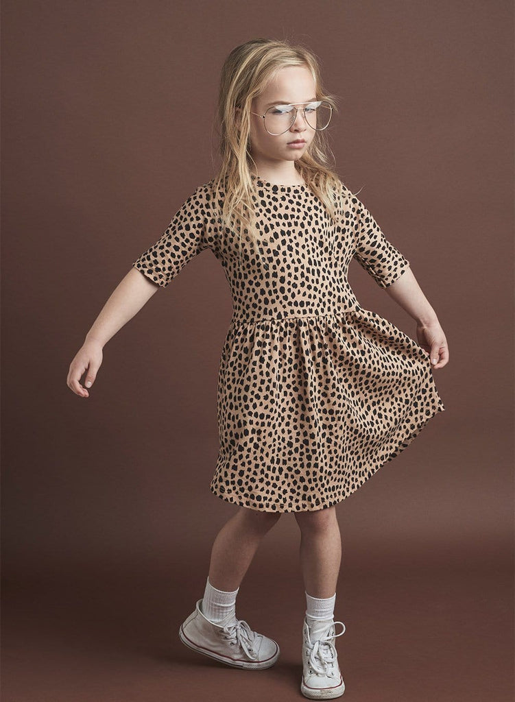 Huxbaby Leopard Swirl Dress  JellyBeanz Kids