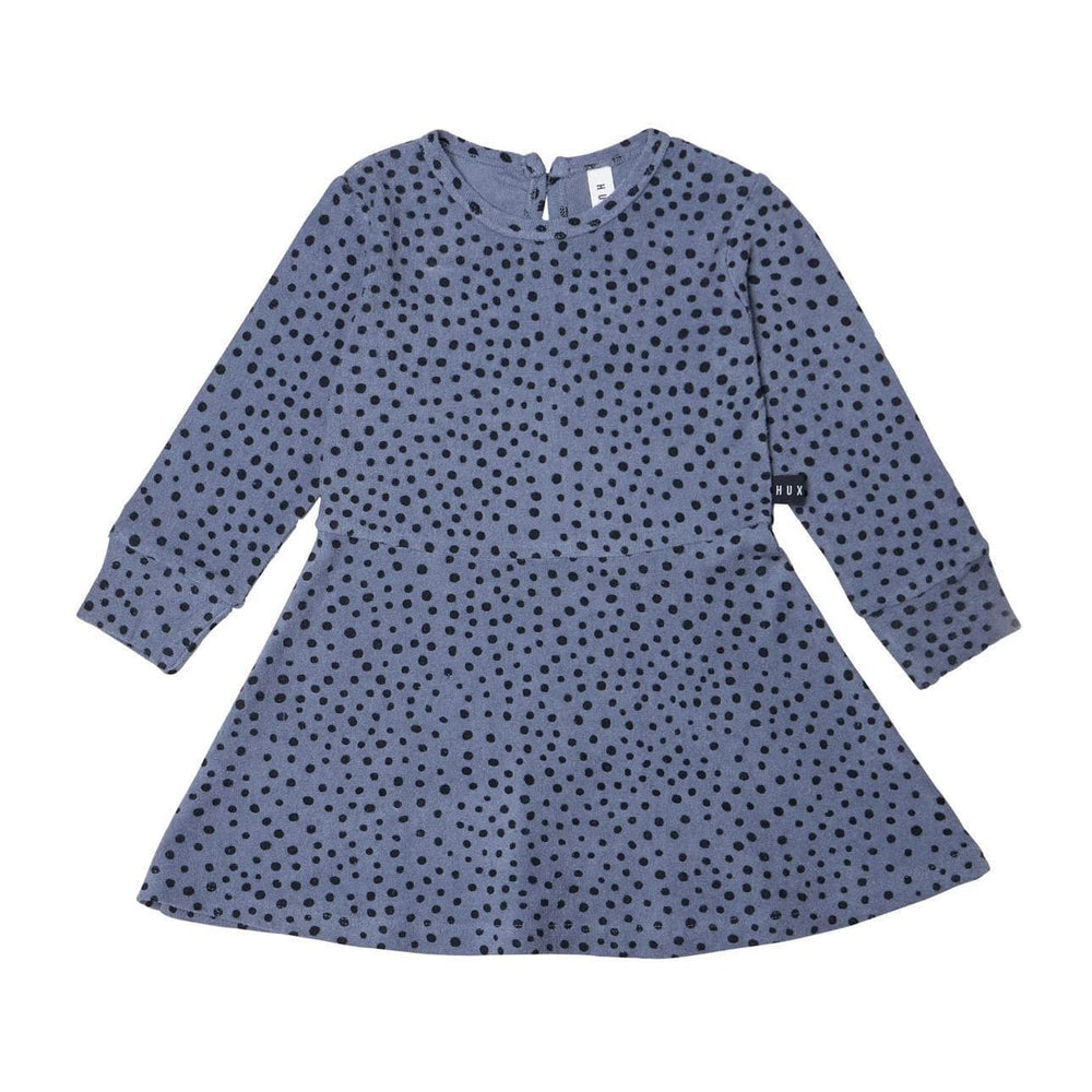 Huxbaby Huxbaby Blue Dot Terry Dress  JellyBeanz Kids