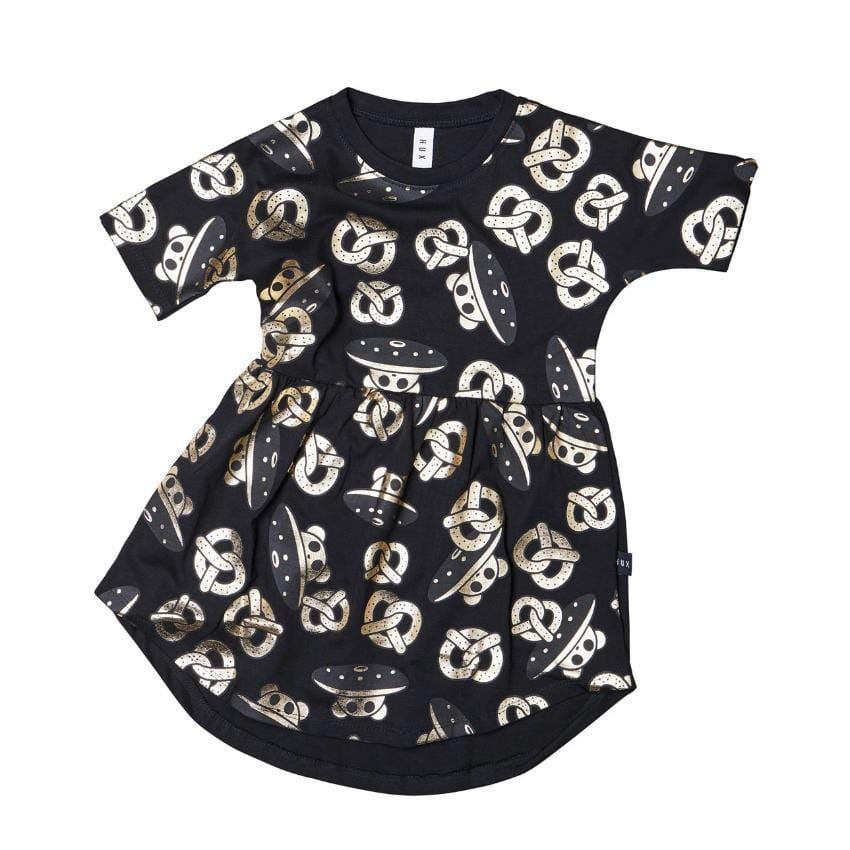 Huxbaby Huxbaby Pretzel Swirl Dress  JellyBeanz Kids