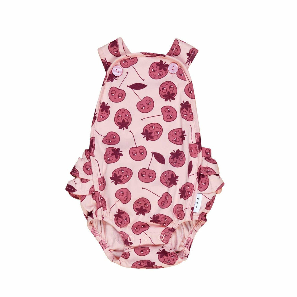 Huxbaby Romper Jellybeanzkids Huxbaby Berry Frill Playsuit
