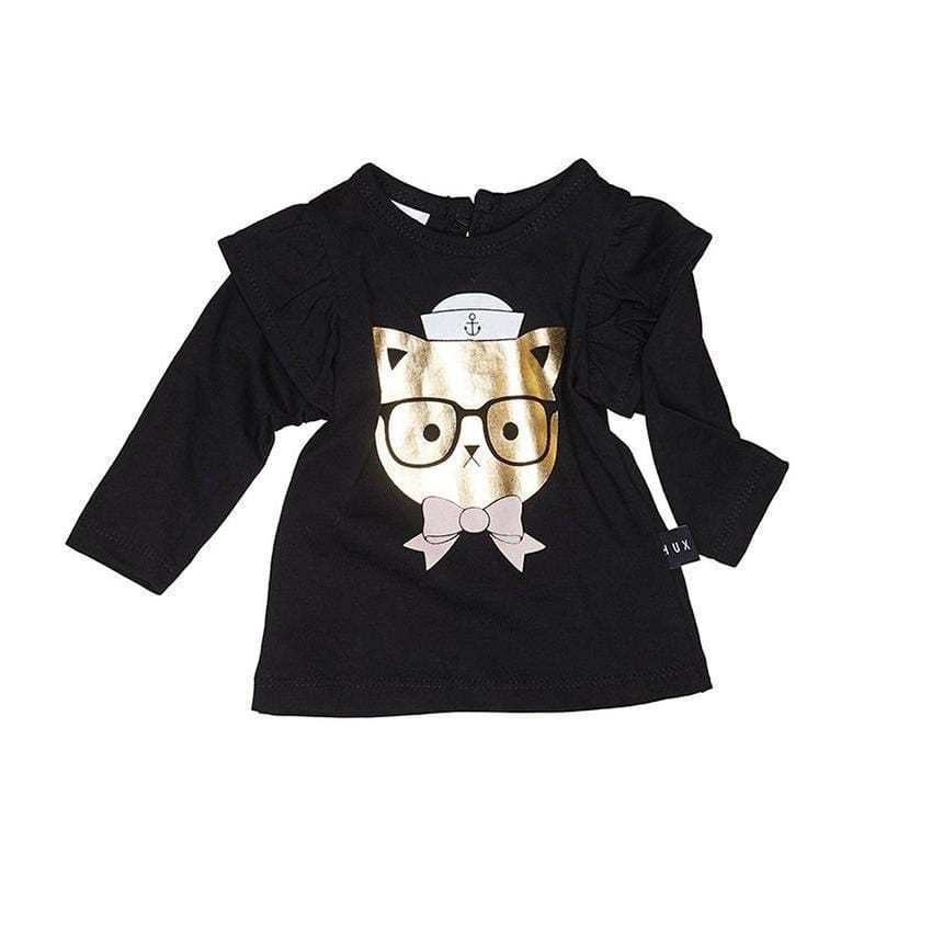 Huxbaby Sailor Cat Frill Tee  JellyBeanz Kids