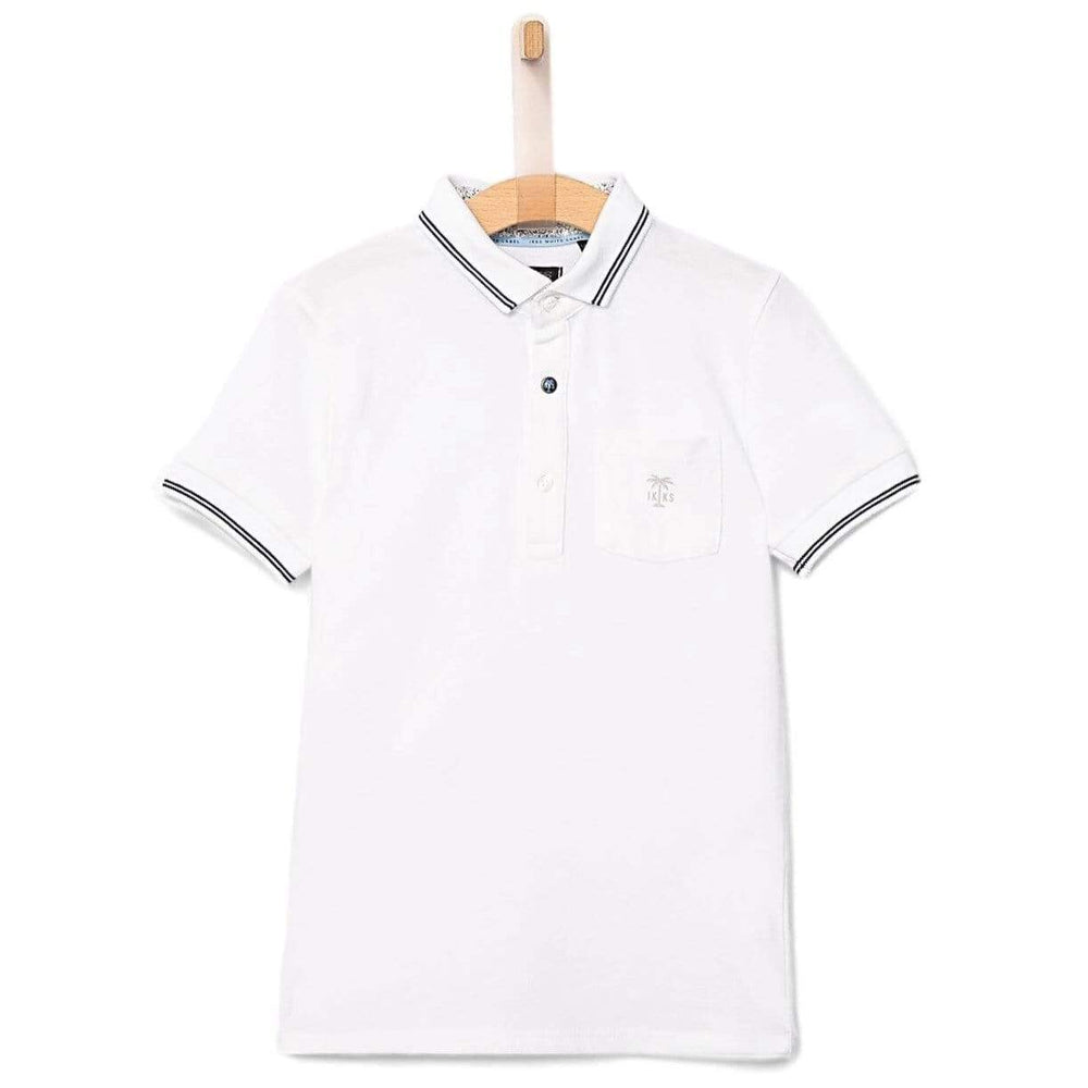IKKS IKKS White Polo  JellyBeanz Kids