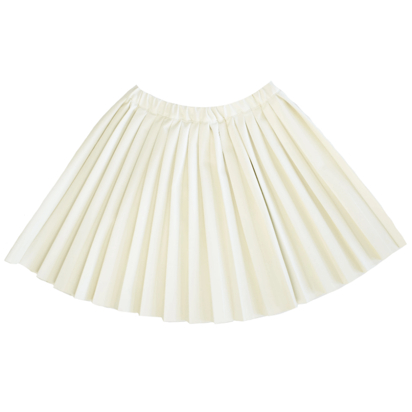 kipp Kipp White Leather Pleated Skirt  JellyBeanz Kids