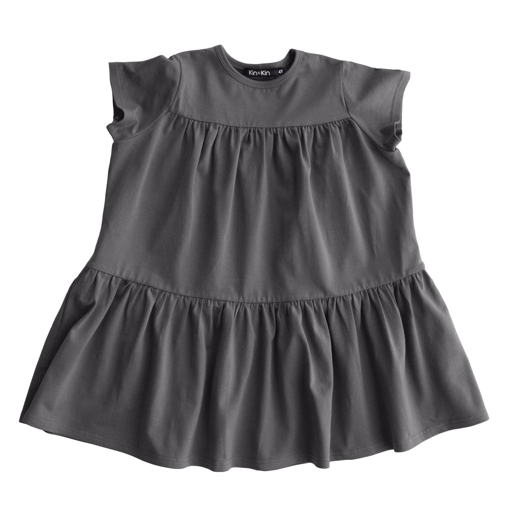 Kin+Kin Dress Jellybeanzkids Kin+Kin Heathered Brown Track Dress