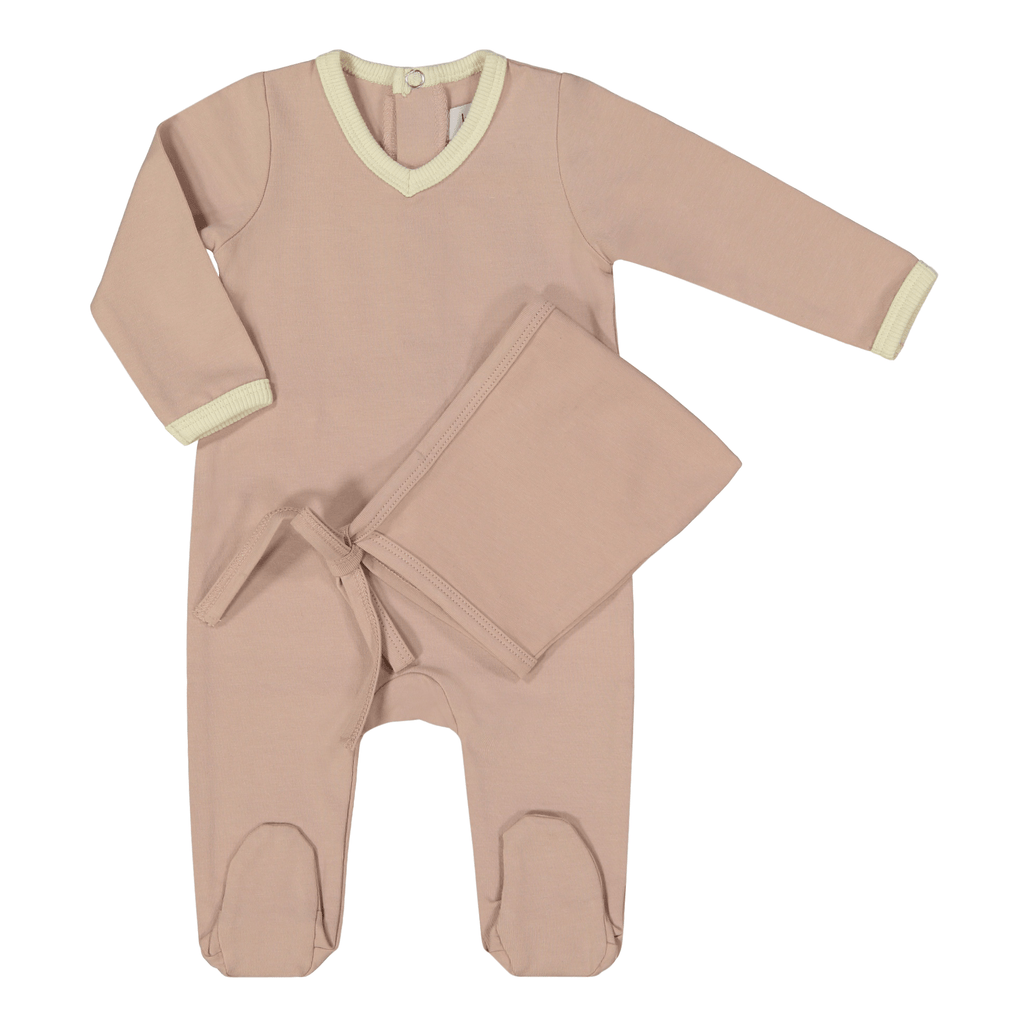 Kin+Kin Kin+Kin Rose V-Neck Footie  JellyBeanz Kids