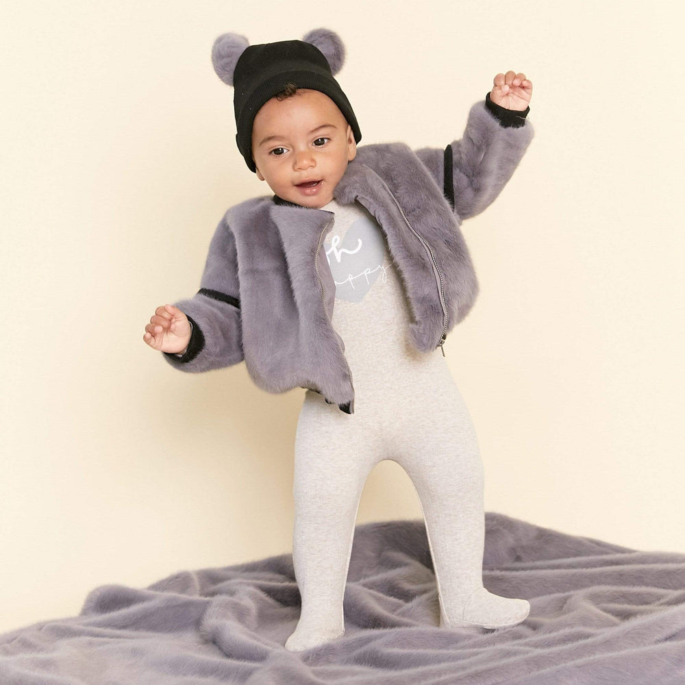 Kipp Coat Jellybeanzkids Kipp Grey Fur Jacket