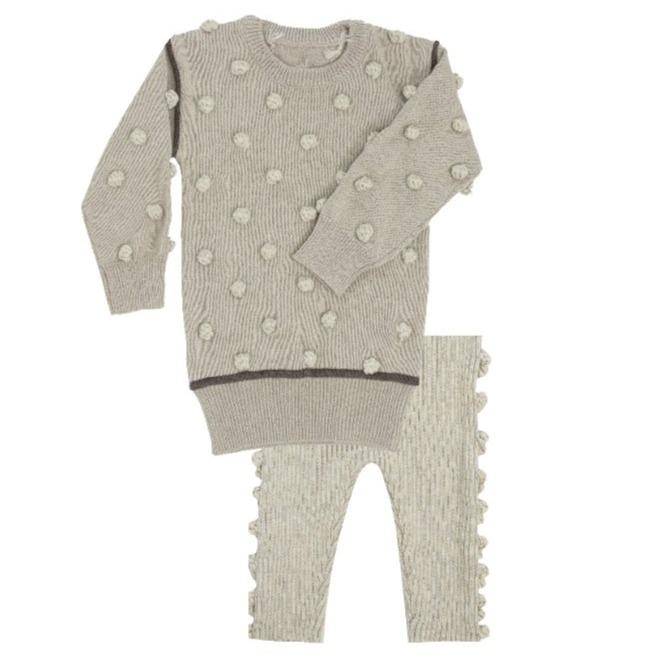 Kipp Leggings Jellybeanzkids KIPP Knit Dot Sweater Set