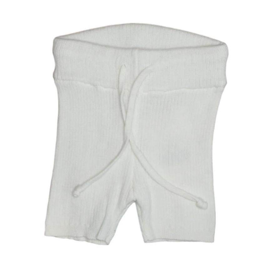 Kipp White Ribbed Knit Shorts  JellyBeanz Kids
