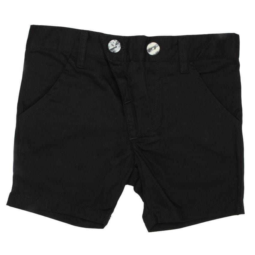 Kipp Black Polished Cotton Shorts  JellyBeanz Kids