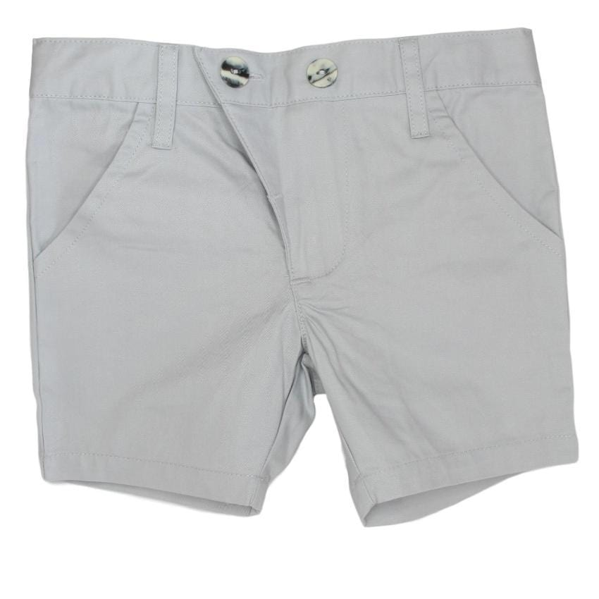 Kipp Gray Polished Cotton Shorts  JellyBeanz Kids